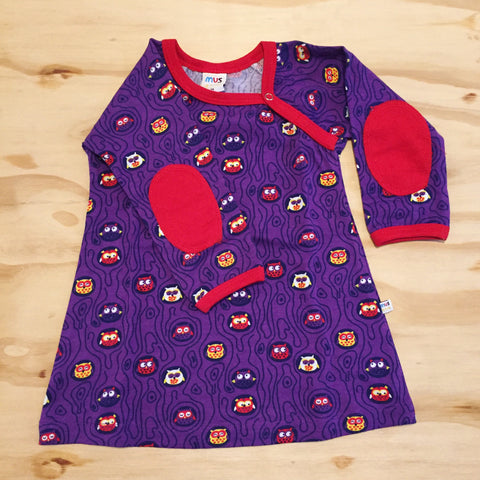 Mus4Kids Dress Owls Purple Uiltjes Paars