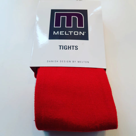 Melton - Tights Plain Red