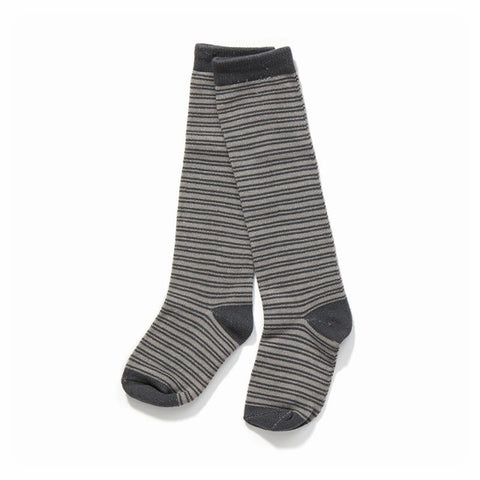 Albababy - Fut Socks - Grey striped