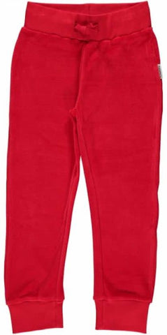 Maxomorra Velour Pants Red - Rode Broek Velours