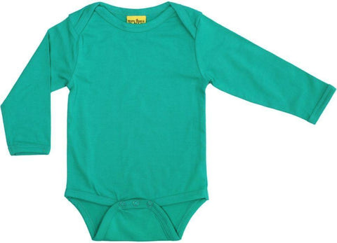 More Than A Fling Body Jade Green Romper Lange Mouw Jade Groen