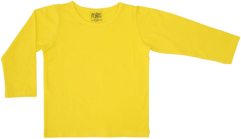 More Than A Fling Longsleeve Bright Yellow - Helder geel