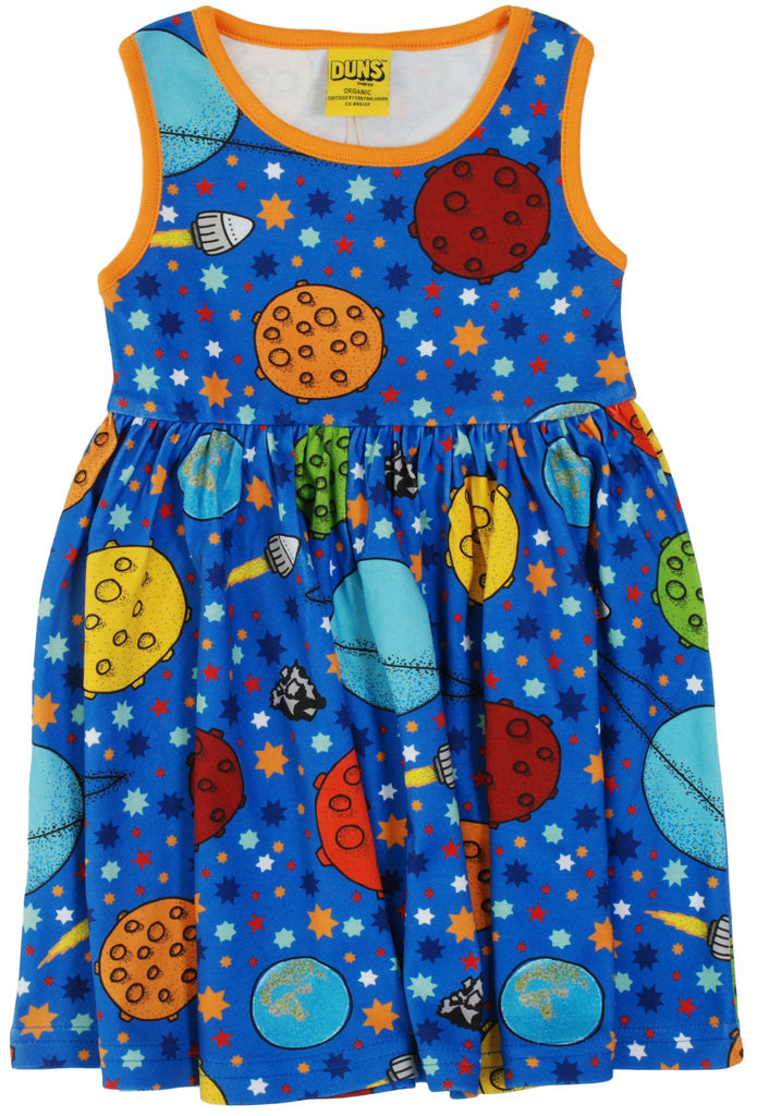 Duns Sweden - Shortsleeve Gather Dress Lost in Space - Zwierjurk Ruimte