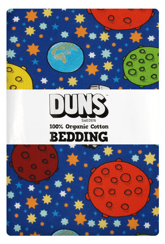 Duns Sweden - Bedding Adult Lost in Space Navy - Dekbedovertrek 1 persoons Ruimte Navy