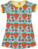 Duns Sweden - Shortsleeve Dress Strawberry Field Light Turquoise