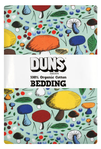 Duns Sweden - Bedding Junior Mushroom Jade - Dekbedovertrek Junior Paddenstoelen