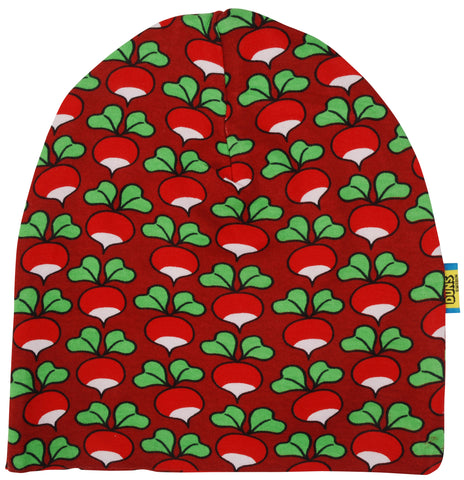 Duns Sweden - Double Layer Hat Radish Dark Red - Dubbellaags muts Radijsjes Rood