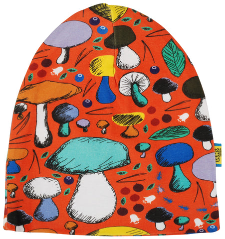 Duns Sweden - Double Layer Hat Mushroom Forest Dark Orange - Dubbellaags muts Paddenstoelen
