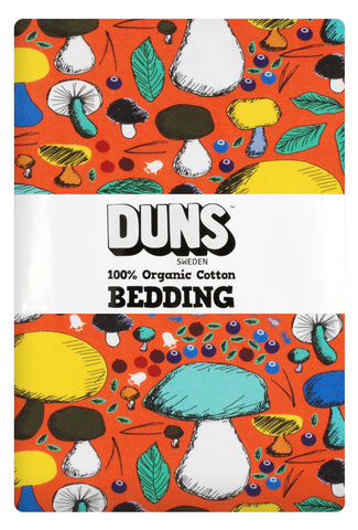 Duns Sweden - Bedding NZ Mushroom Orange - Dekbedovertrek 1 persoons (220x140cm)Paddenstoelen