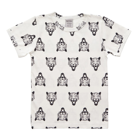 Nosh Organics T-Shirt Tiger White