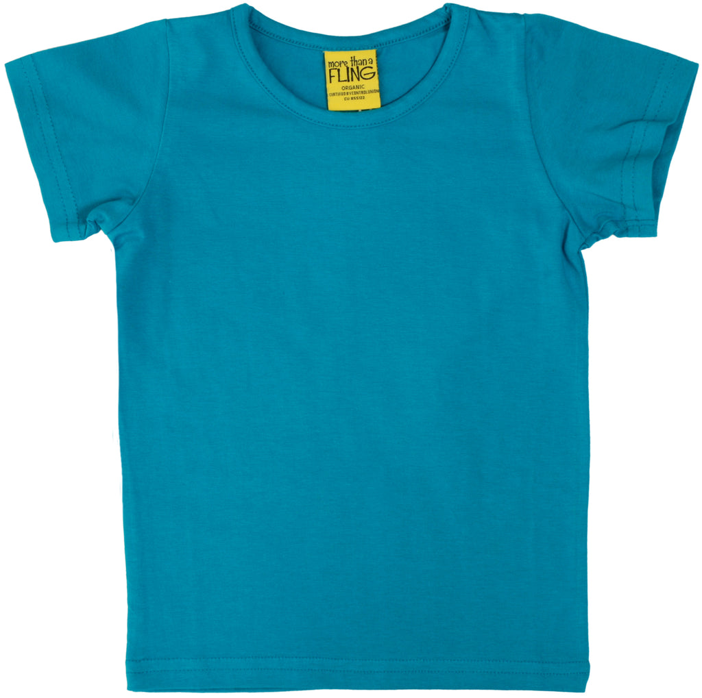 More Than A Fling T Shirt Teal - Shirt Teal Blauwgroen