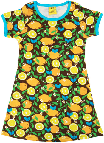 Duns Sweden - Short Sleeve Dress Lemon Citroen