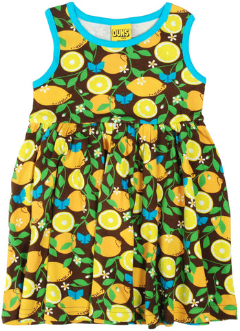 Duns Sweden - Zwierjurk Citroenen Twirl Dress Lemon