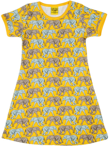 Duns Sweden - Short Sleeve Dress Elephant Yellow