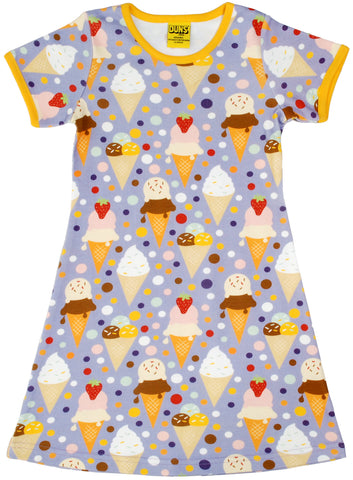 Duns Sweden - Short Sleeve Dress Icecream Lavender