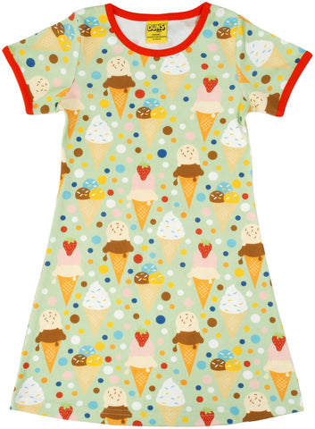 Duns Sweden - Short Sleeve Dress Icecream Pistache