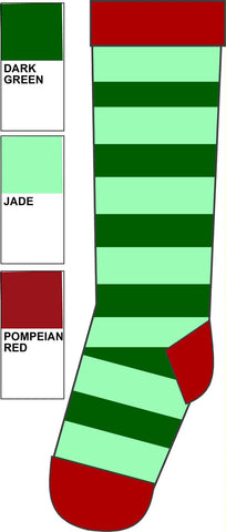 Duns Sweden Kneesocks Striped Green/Jade