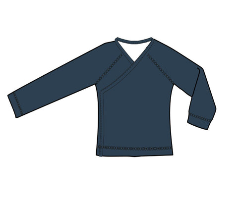 Baba Babywear - Wrap Shirt Dark Blue
