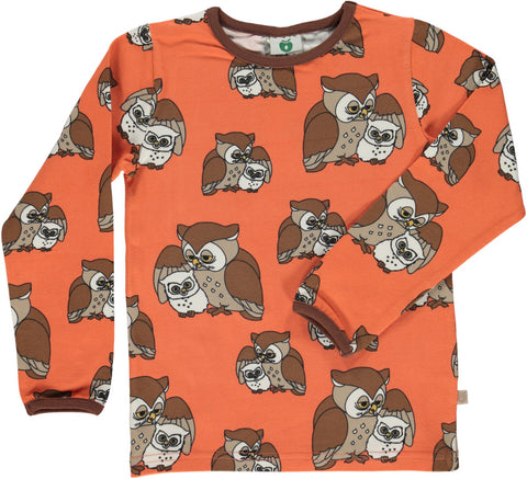 Smafollk - Longsleeve Owl Orange