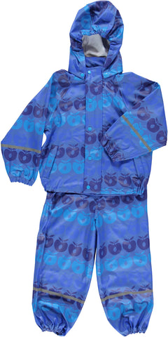 Smafolk Regenpak Appels Blauw - Rainsuit Blue Apples