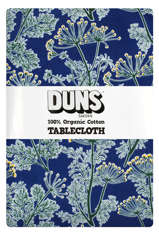 Duns Sweden Tablecloth Dill Marine Blue - Tafelkleed Dille Donker Blauw