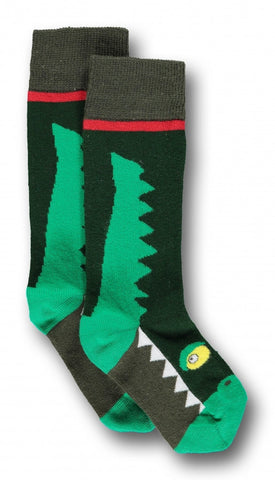 Ubang Kniekous Krokodil Groen - Kneestockings Crocodile Green