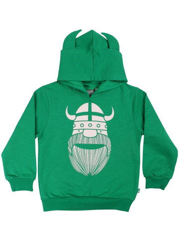 Danefae Warrior Hoodie Erik Viking Green - Capuchon Sweater Groen