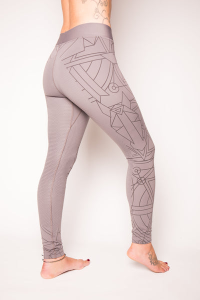 Rae Silicone Seat Leggings - Light Grey