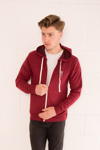 Men's Zip Hoodie - Red