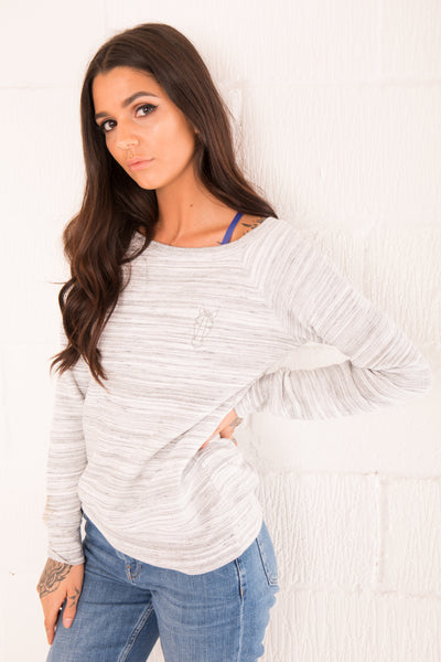 The Women's Asta Wide Neck Jumper - Marble