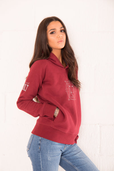 The Women's Haider Hoodie - Burgundy