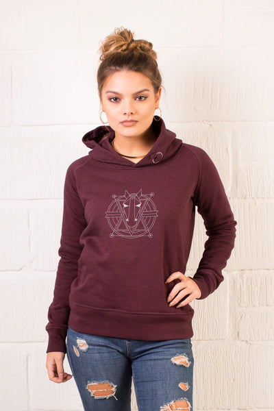 The Women's Haider Hoodie - Heather Grape Red