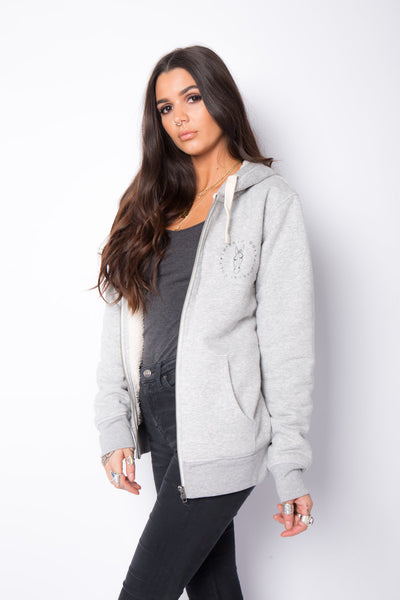 The Baylor Lined Hoodie - Grey