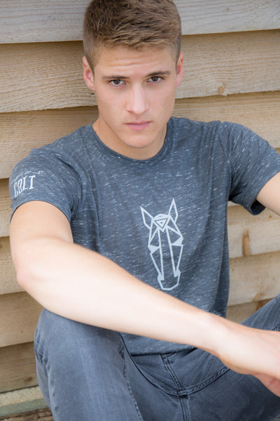 Men's LOGO Tee - Charcoal Marble