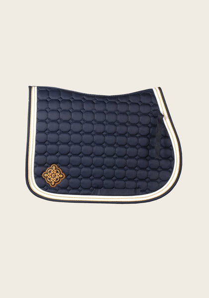 Frappant Navy Saddle Pad