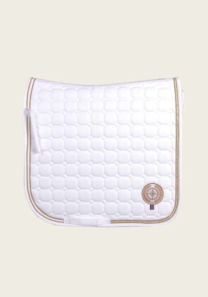 White Diamante Dressage Saddle Pad