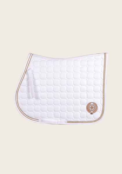 White Saddle Pad with Diamante