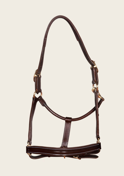 Padded Patent Leather Headcollar