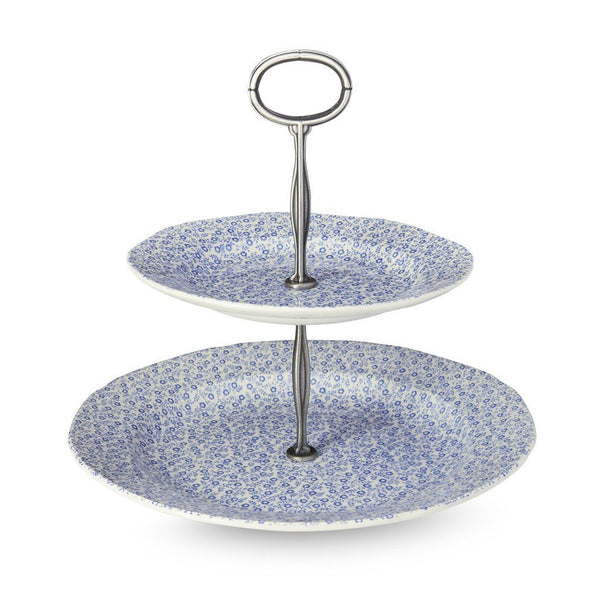 2 Tier Cake Stand - Blue Felicity 2 Tier Cake Stand 17.5cm & 25cm Gift Boxed