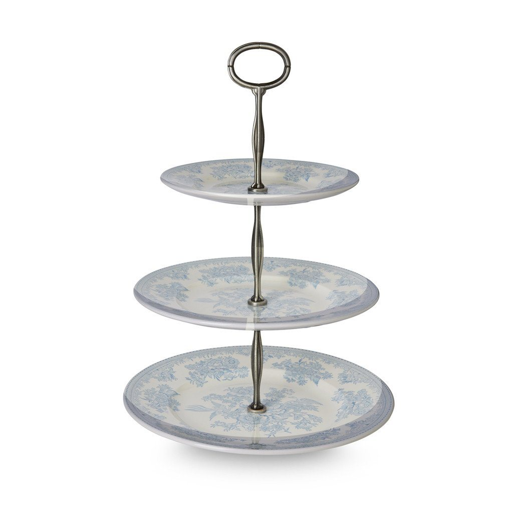 3 Tier Cake Stand - Blue Asiatic Pheasants 3 Tier Cake Stand Gift Boxed