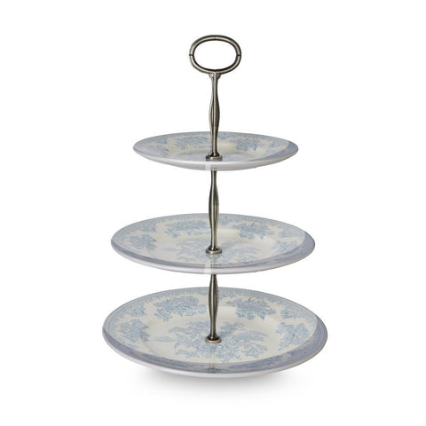 Blue Asiatic Pheasants 3 Tier Cake Stand Gift Boxed