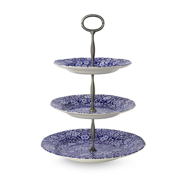 3 Tier Cake Stand - Blue Calico 3 Tier Cake Stand Gift Boxed