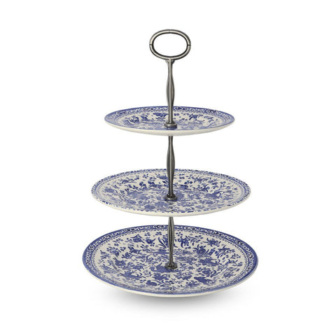 Blue Regal Peacock 3 Tier Cake Stand Gift Boxed