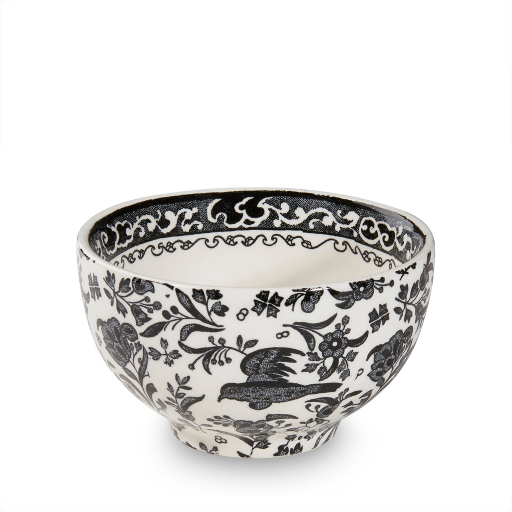 Black Regal Peacock Mini Footed Bowl 12cm/5""