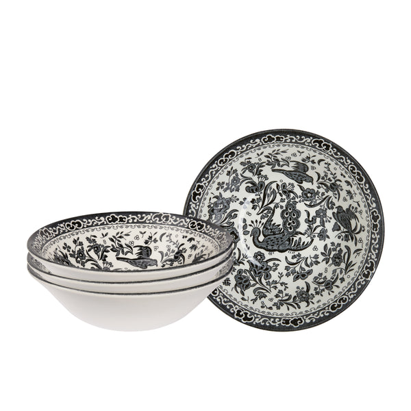 Black Regal Peacock Cereal Bowl set of 4