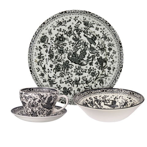 Black Regal Peacock Breakfast Set