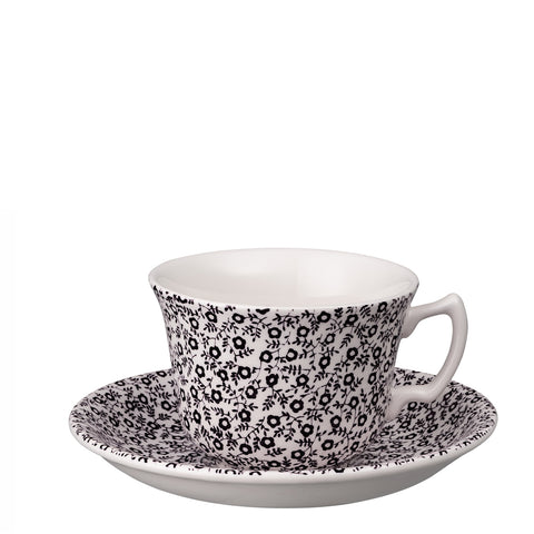 Soho Home Black Felicity Teacup and Saucer
