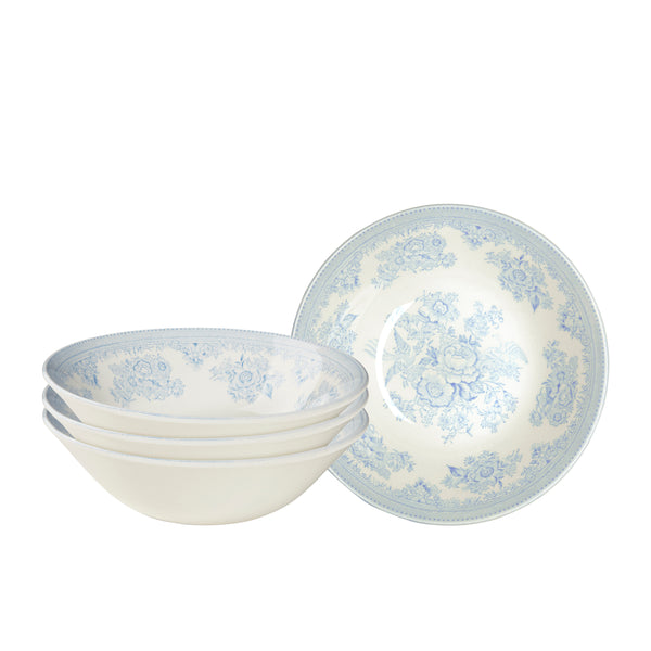 Blue Asiatic Pheasants Cereal Bowl set of 4