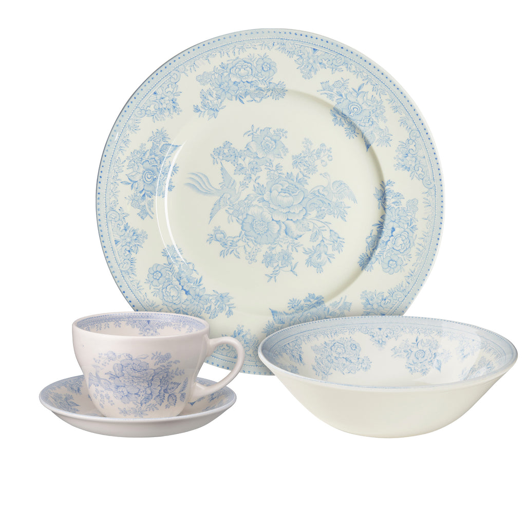 Blue Asiatic Pheasants Breakfast Set