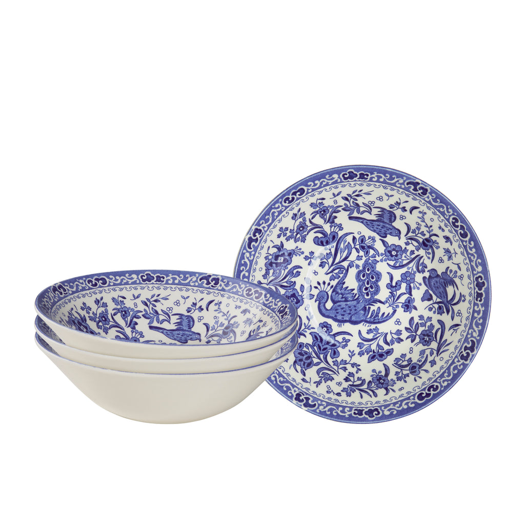 Blue Regal Peacock Cereal bowl set of 4